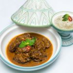 Tajín de carrilleras ibéricas 5 jotas al curry rojo